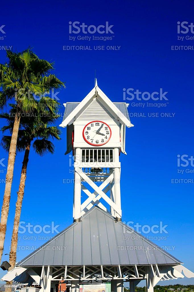 Bradenton beach pier clocktower in Florida stock photo