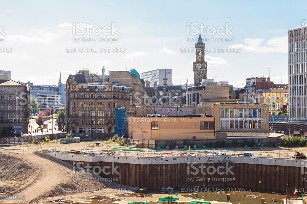 Bradford building site for the Westfield Broadway shopping centre stock photo