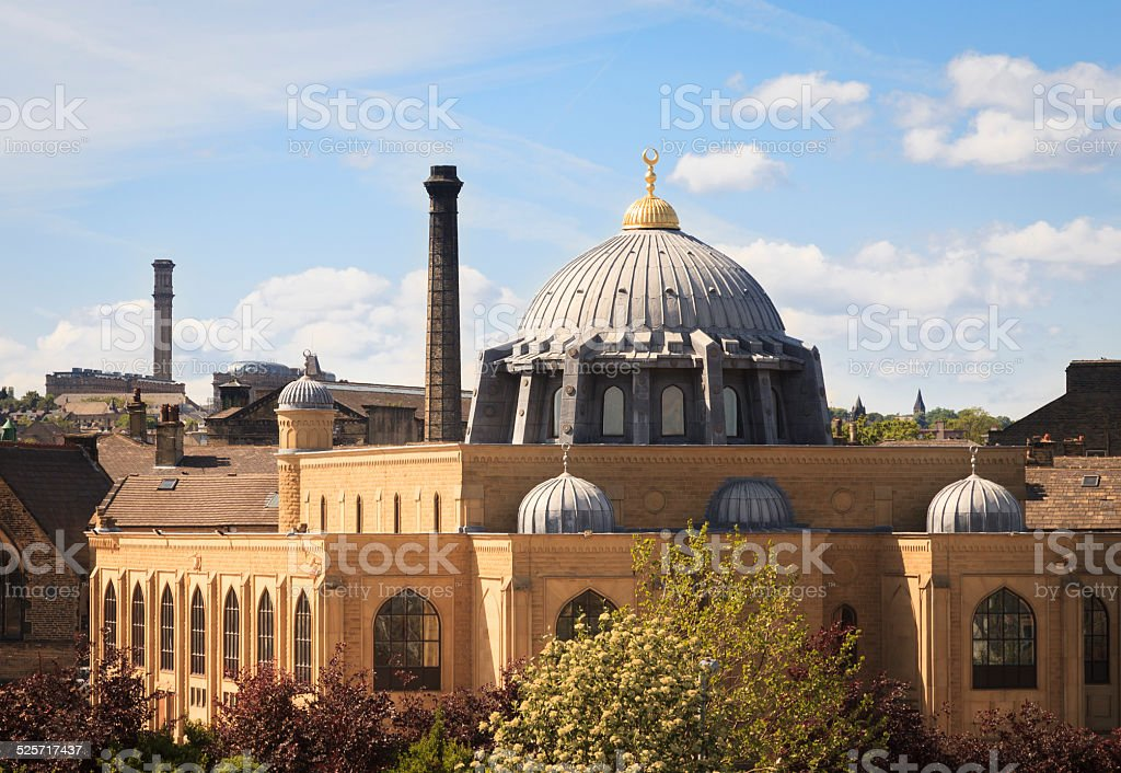 Bradford central mosque stock photo