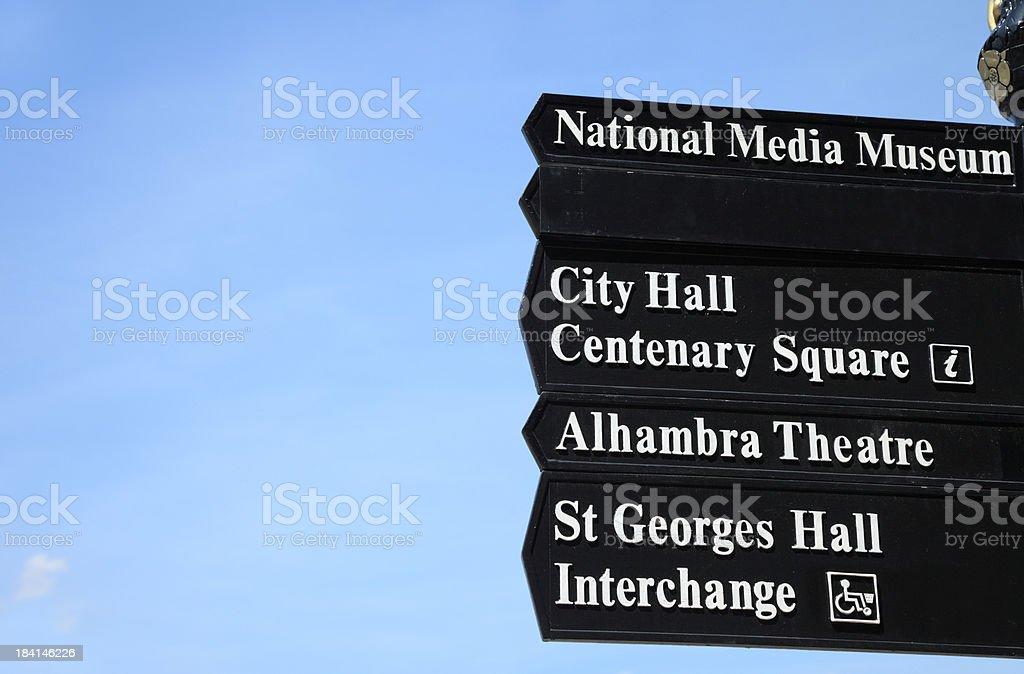 Bradford street sign royalty-free stock photo