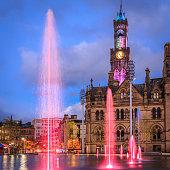 Bradford Town Hall at night