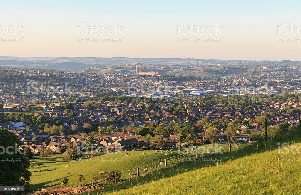Bradford - viewed from Clayton Heights stock photo