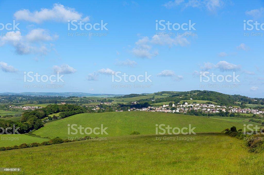 Brading Isle of Wight home to the Roman Villa stock photo