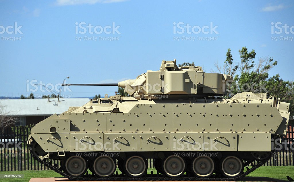 M2 Bradley Armored Fighting Vehicle stock photo