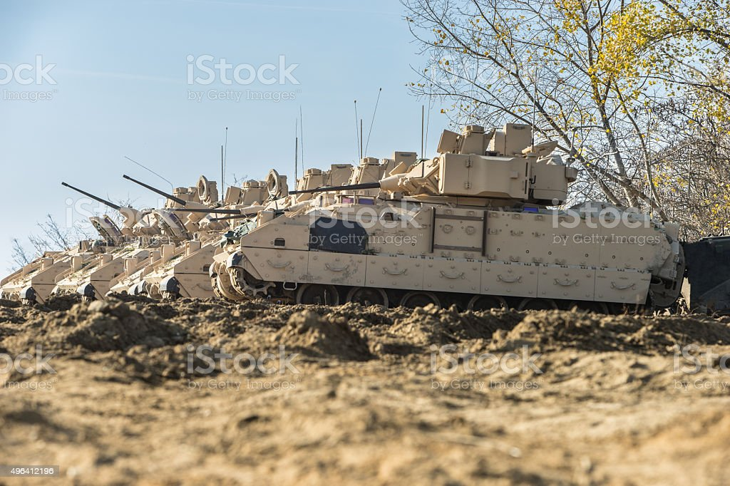 M2 Bradley Armored Fighting Vehicle - Stock Image stock photo