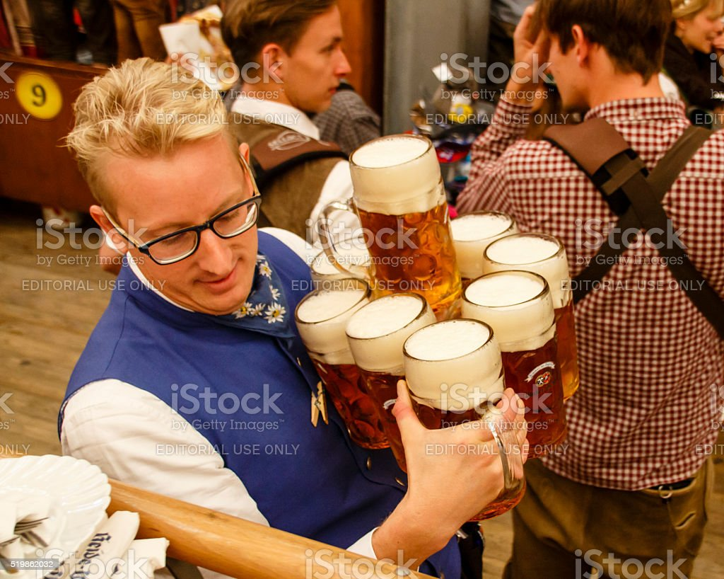 Braeurosl at Oktoberfest in Munich, Germany, 2015 stock photo