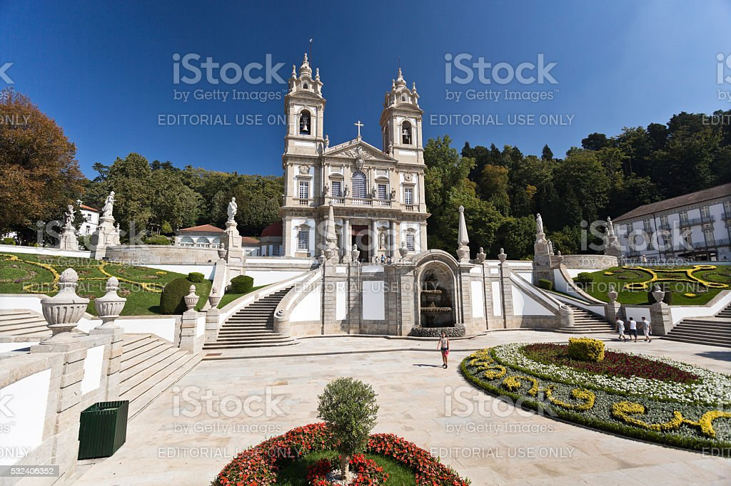 Braga Basilica of Bom Jesus stock photo