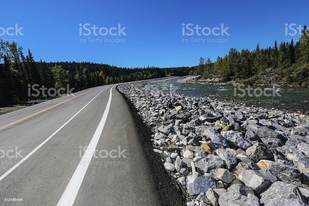 Bragg Creek in Kananaskis Country Calgary stock photo