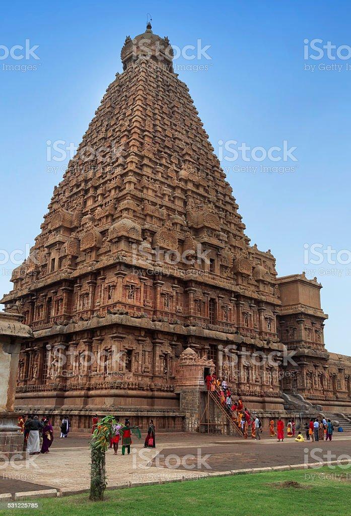 Brahadeewarar temple, Thanjavur, Tamilandu. stock photo