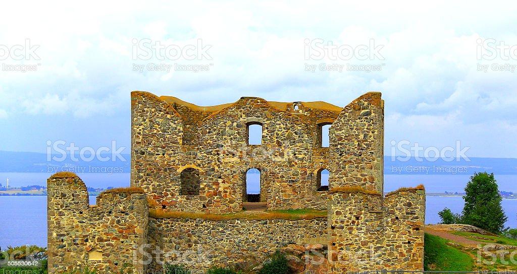 Brahehus ruins stock photo