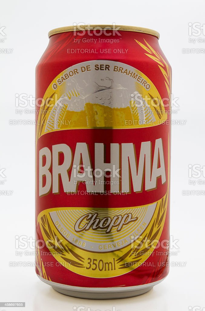 Brahma beer can stock photo