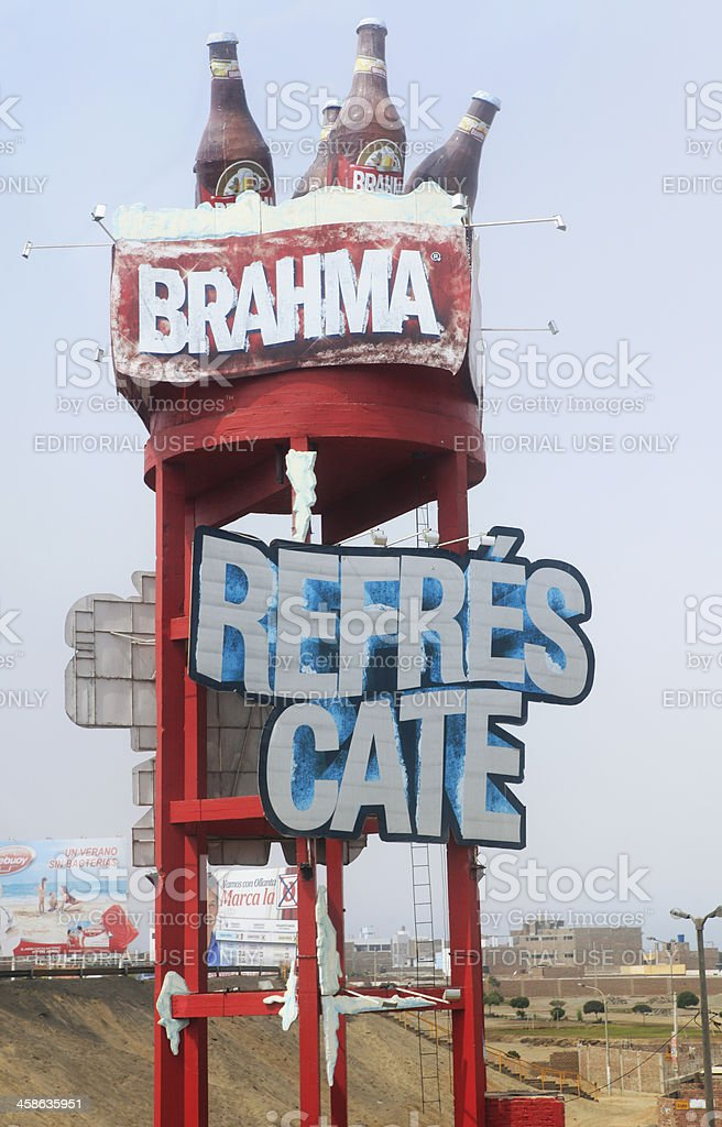 Brahma Beer Sign stock photo