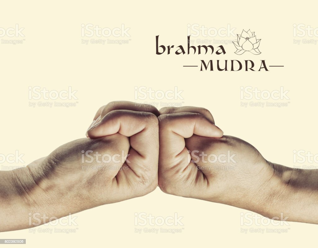 Brahma mudra. stock photo