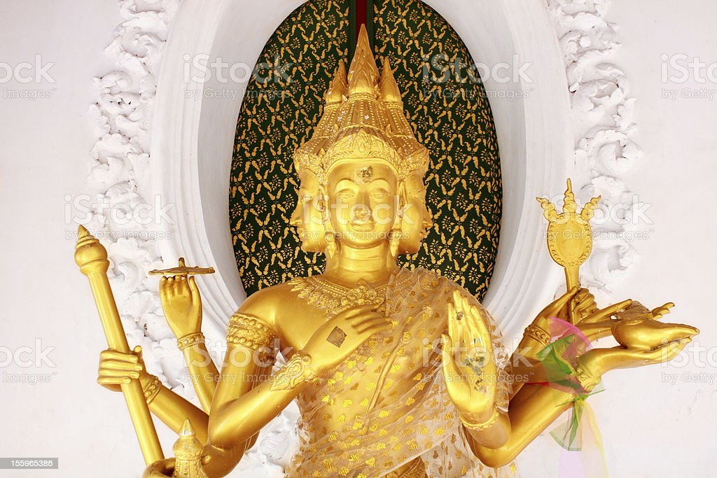 Brahma statue in Thailand royalty-free stock photo