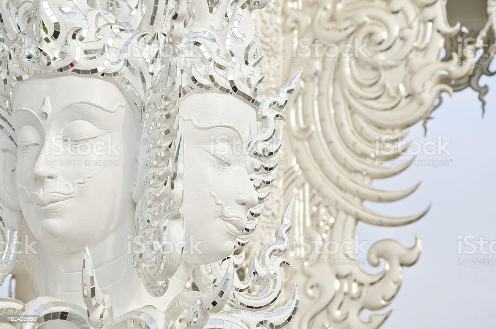Brahma statue  in Wat Rong Khun, Thailand. royalty-free stock photo