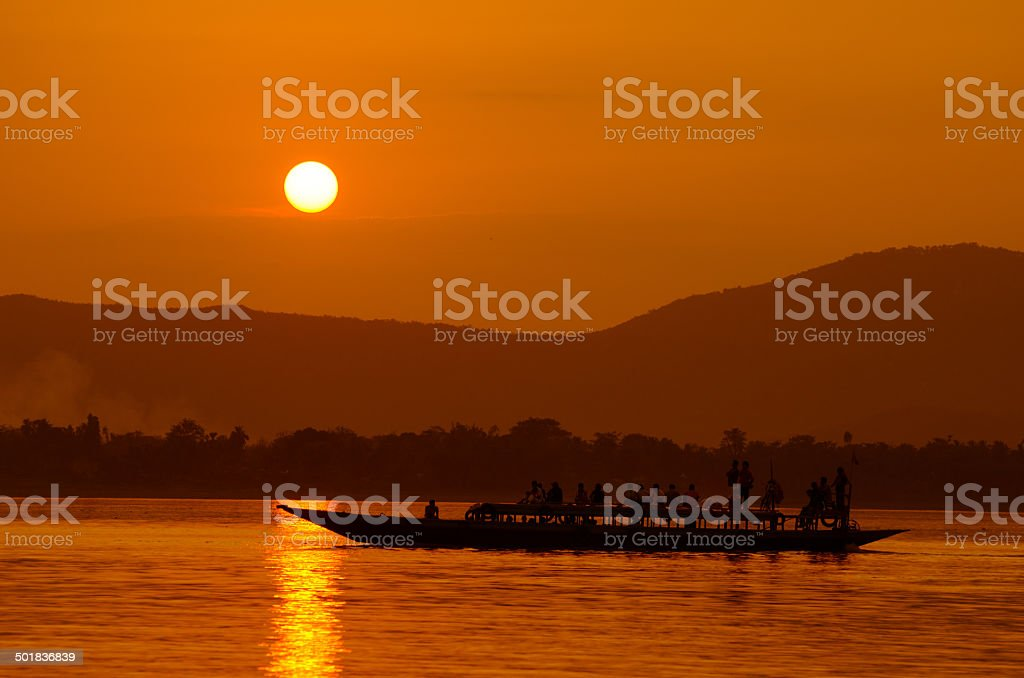 Brahmaputra_at_Sunset stock photo