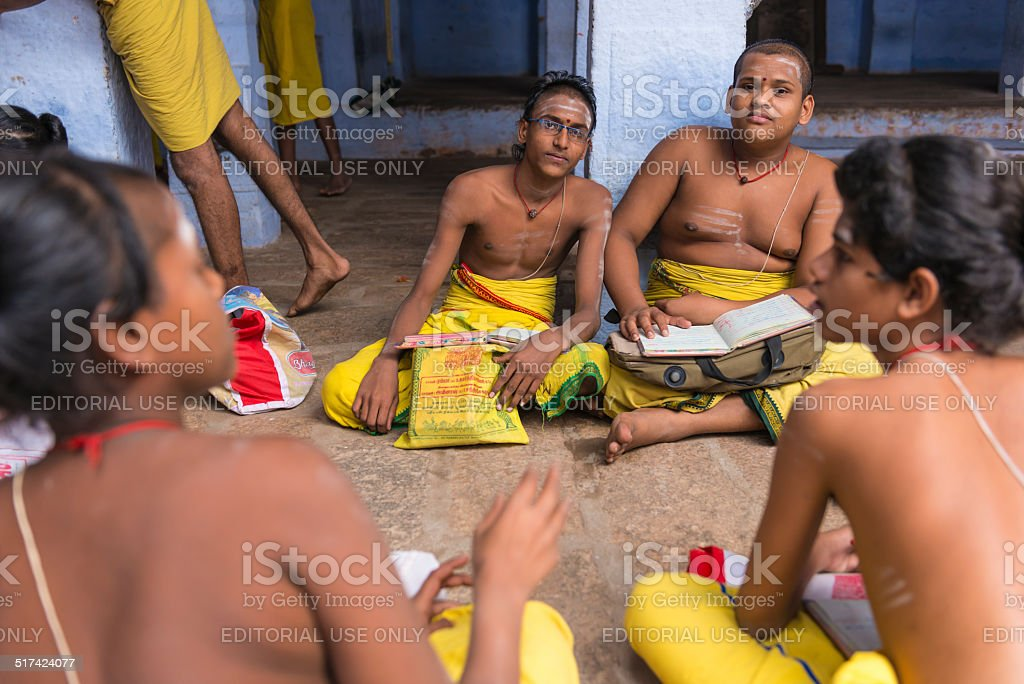Brahmin boys stock photo