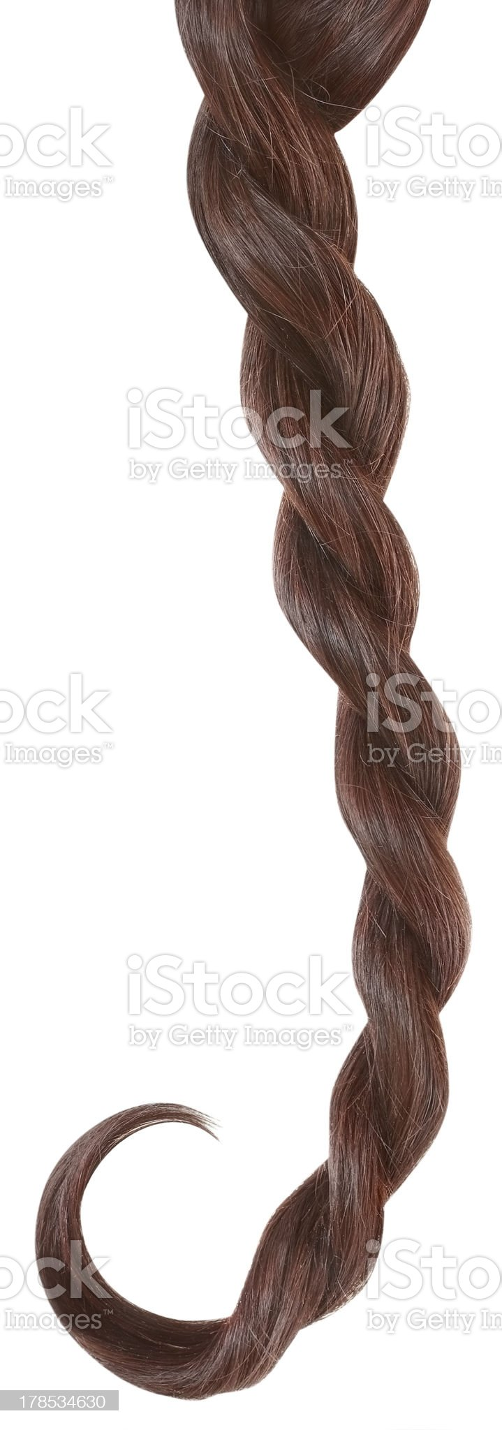 Braid isolated on white. royalty-free stock photo