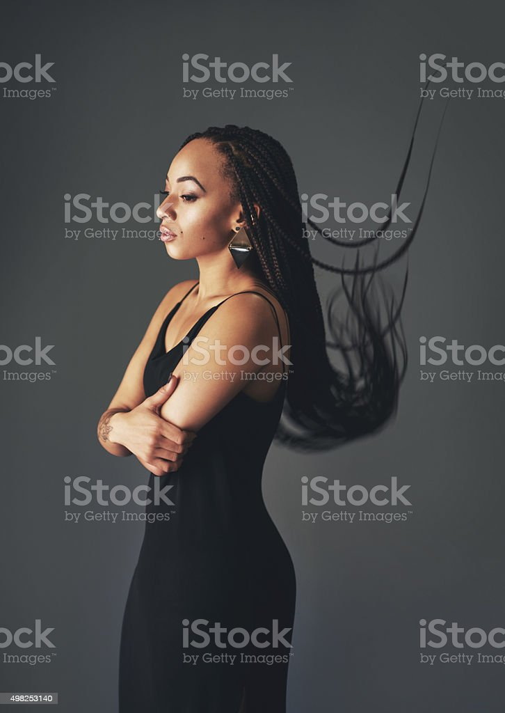 Braided belle stock photo