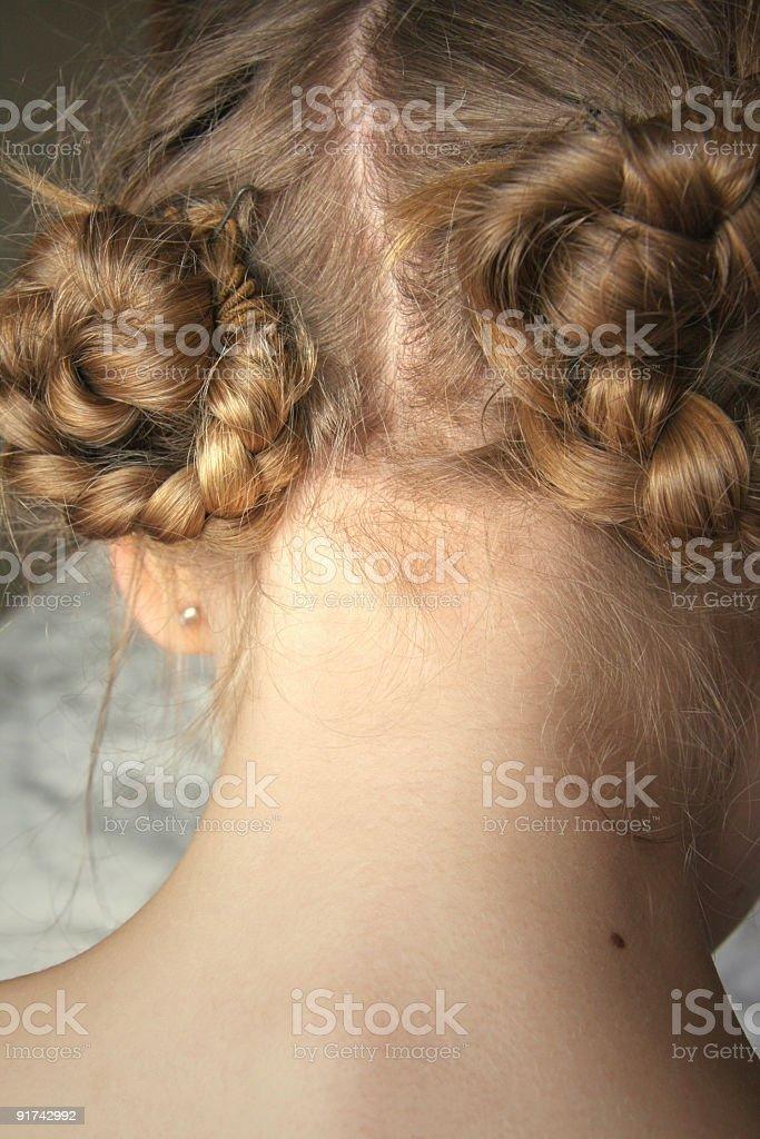 braided hair royalty-free stock photo