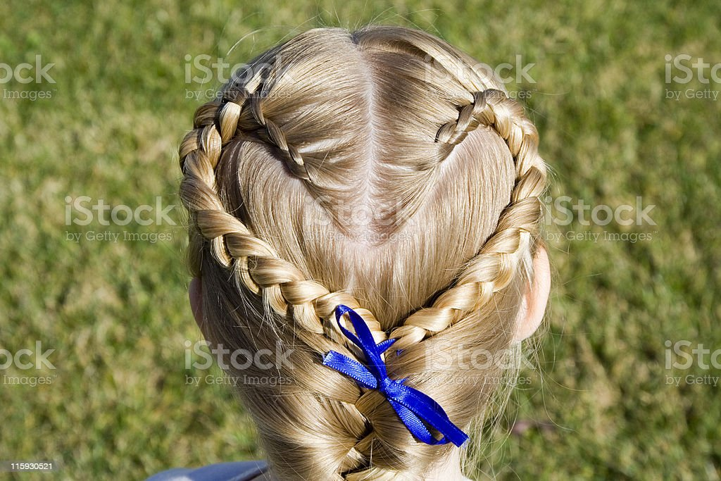Braided Heart stock photo