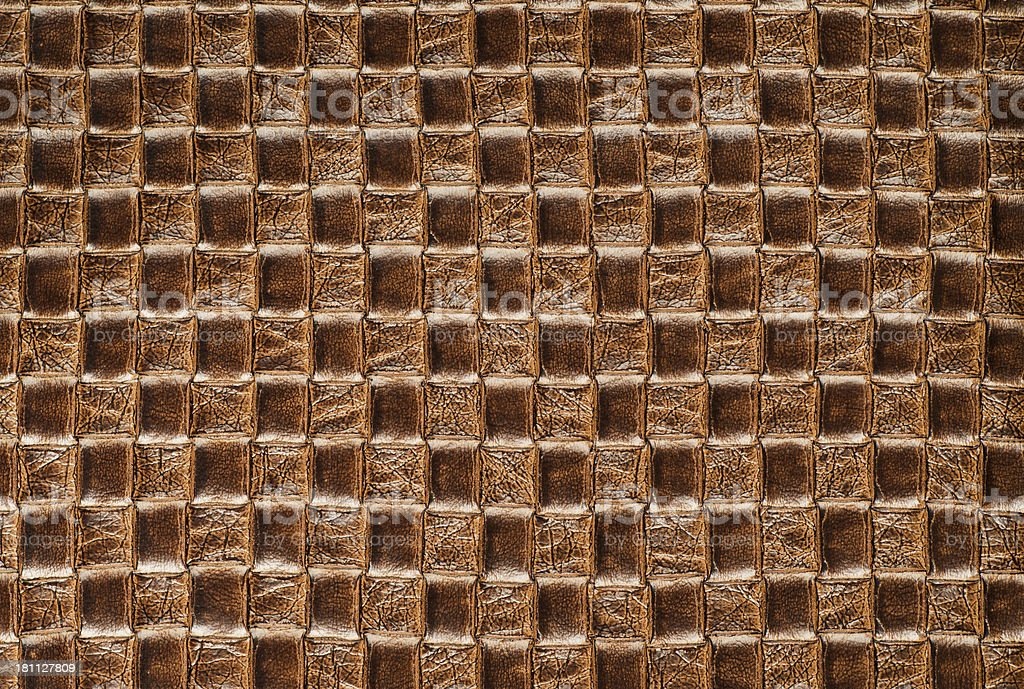 Braided Leather Background royalty-free stock photo