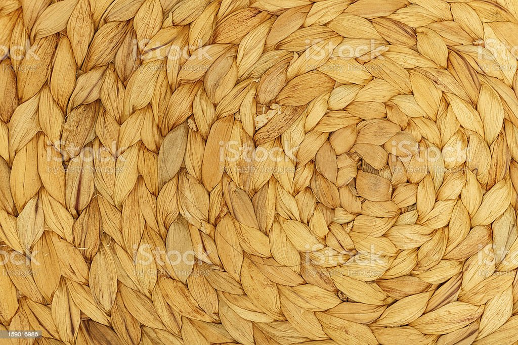 Braided natural beige placemat, close-up royalty-free stock photo