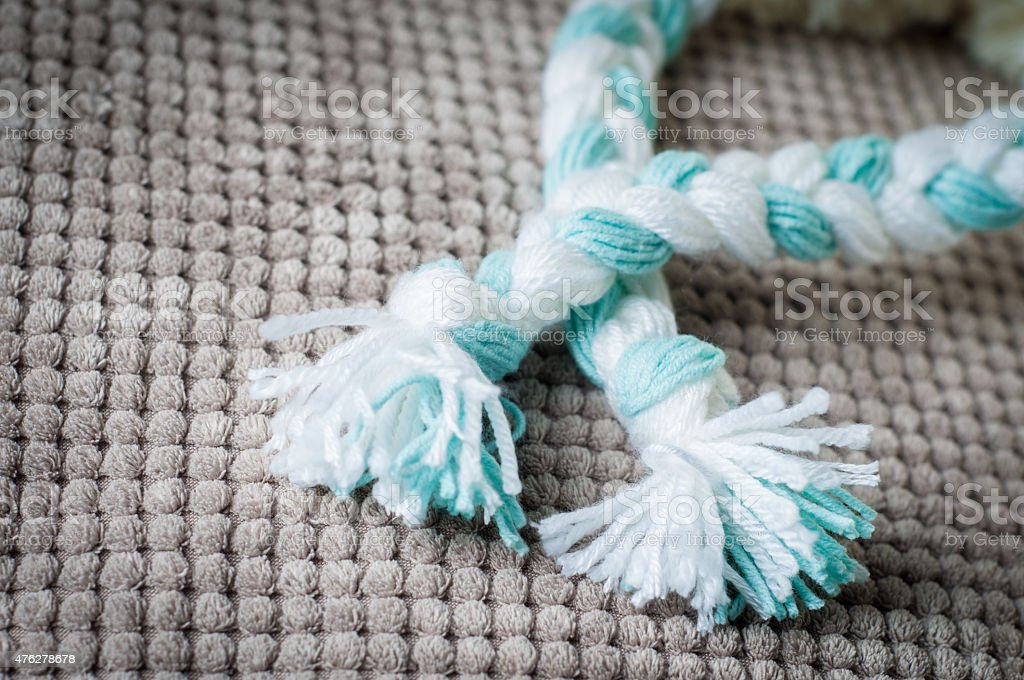 Braids of yarn stock photo