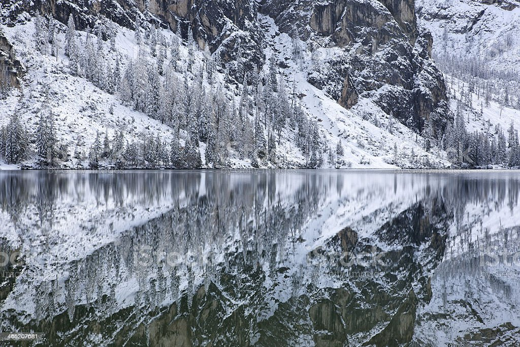 Braies Reflection stock photo