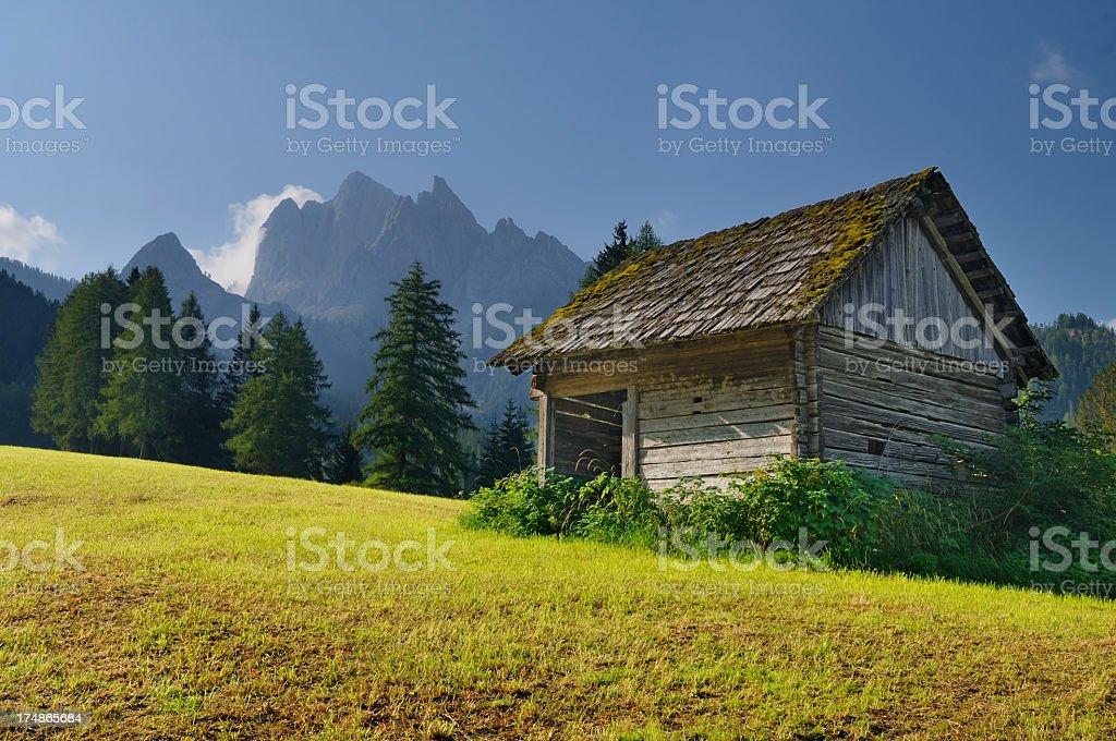 Braies Vecchia - Bad Altprags (Dolomiti) stock photo