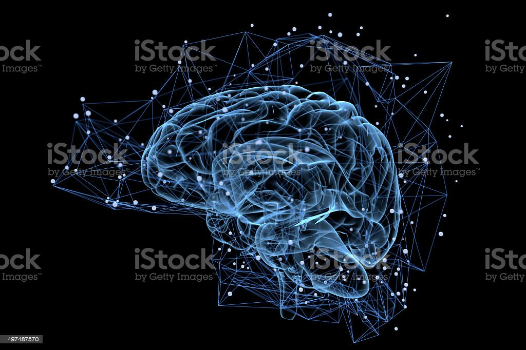 Brain activity royalty-free stock photo