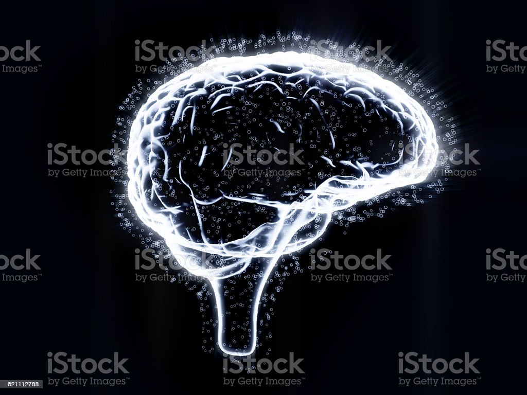 Brain Activity  X-ray stock photo