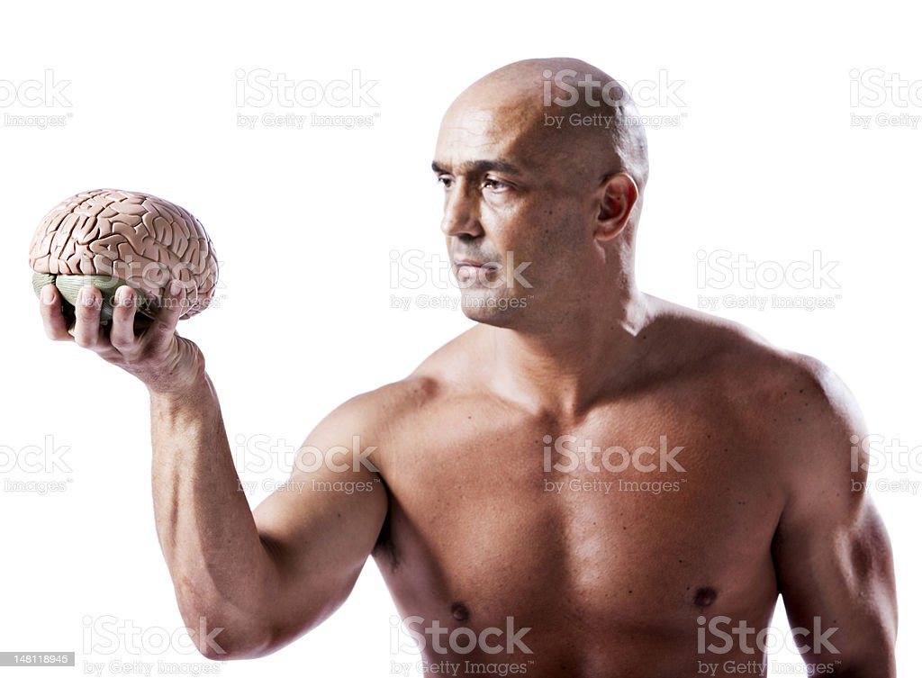 Brain and brawn royalty-free stock photo