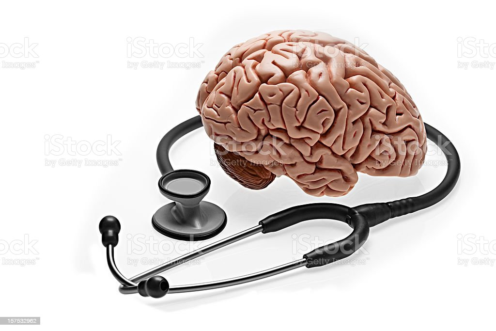 Brain and Stethoscope royalty-free stock photo