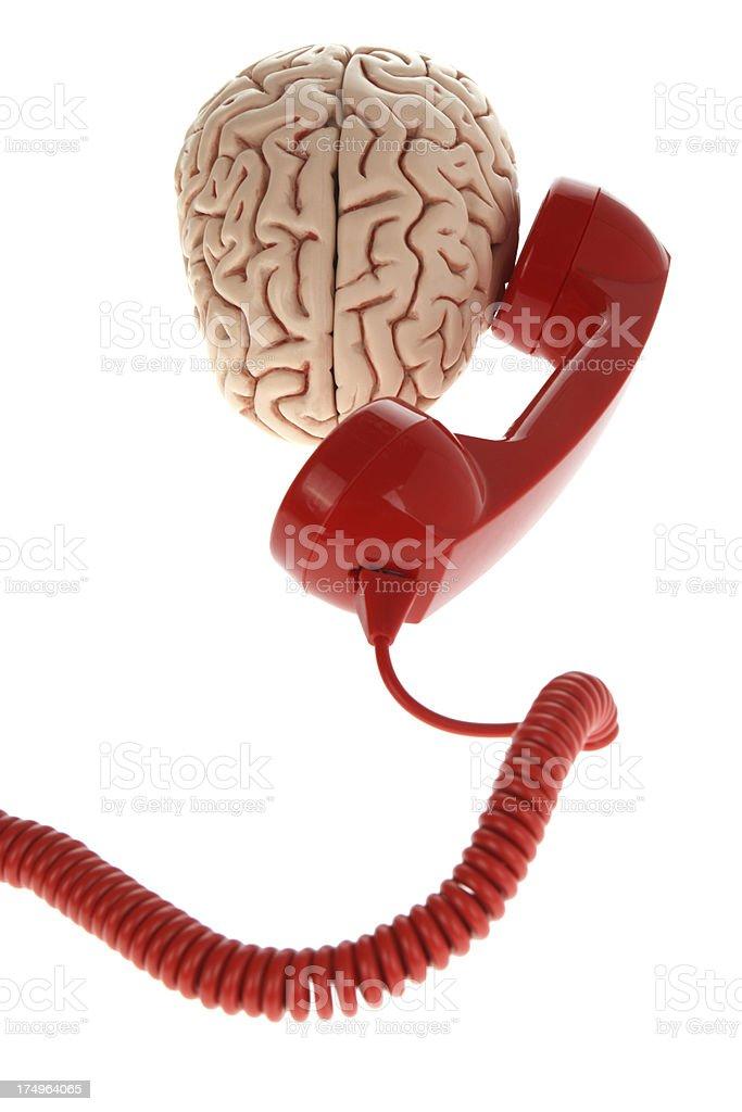 Brain Communication royalty-free stock photo