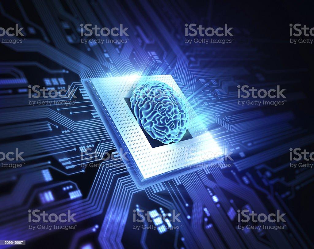 Brain CPU stock photo