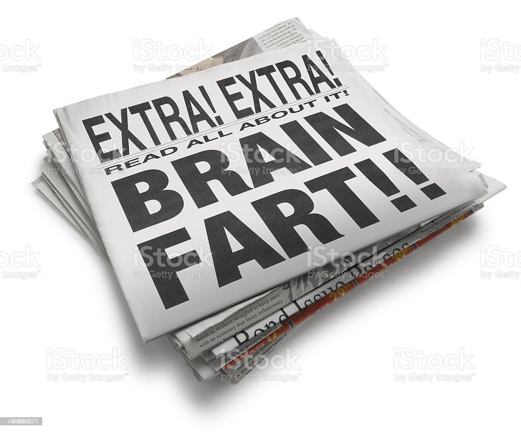 Brain Fart!! royalty-free stock photo