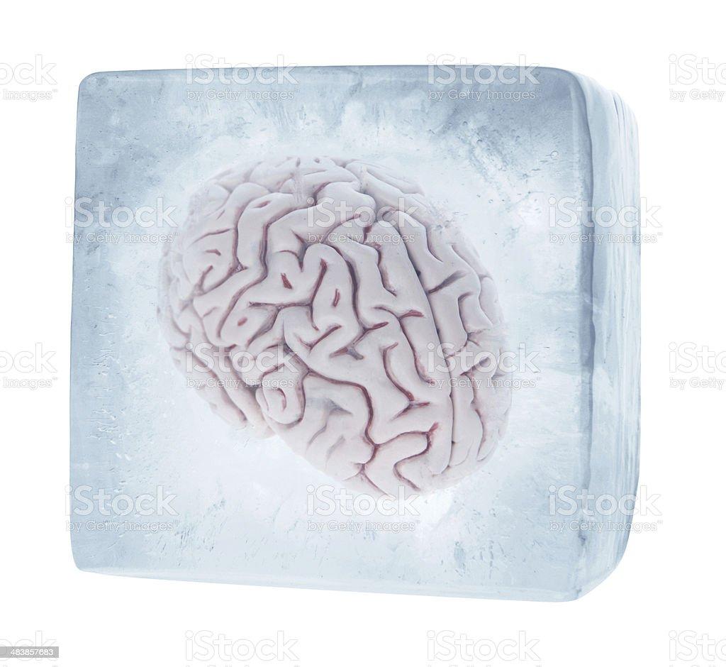 Brain Freeze stock photo