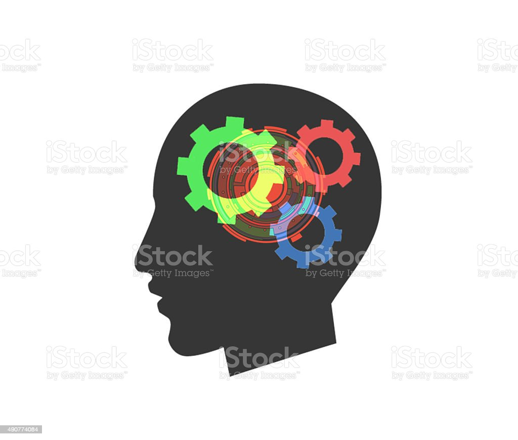 brain, gear, stock photo