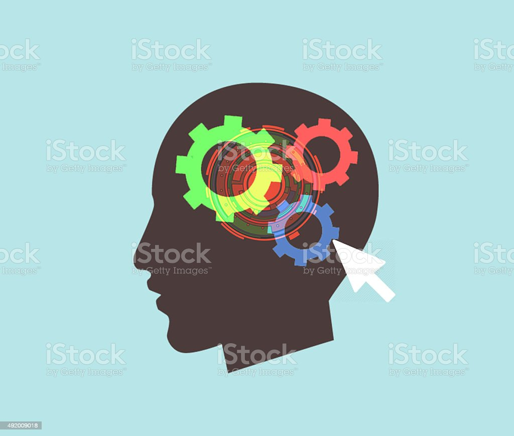 brain, gear stock photo