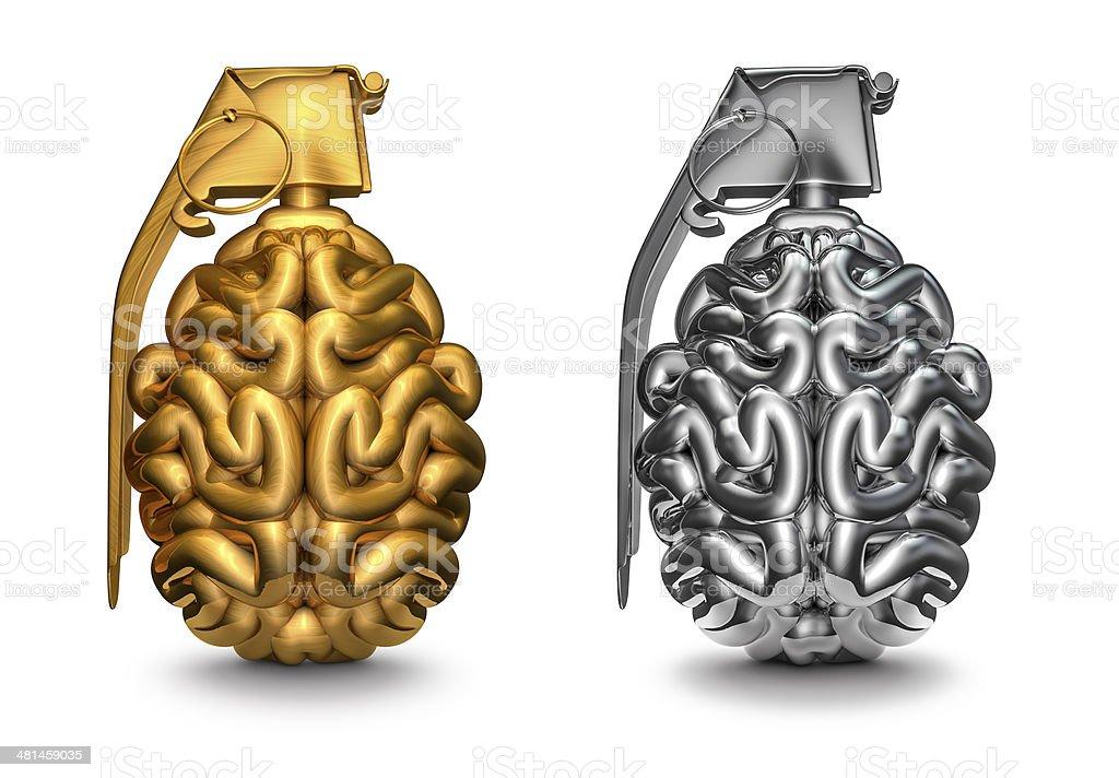 Brain grenade stock photo