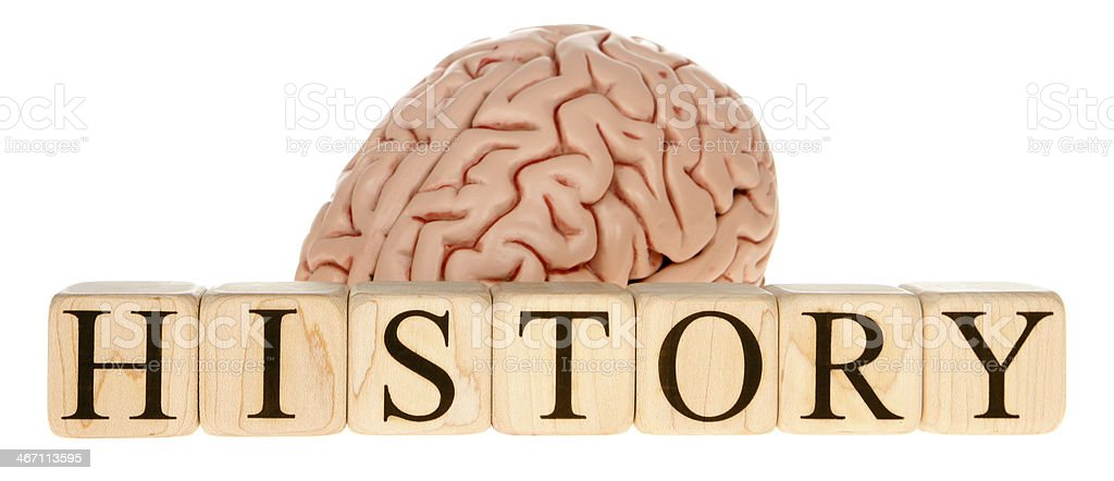 Brain History royalty-free stock photo