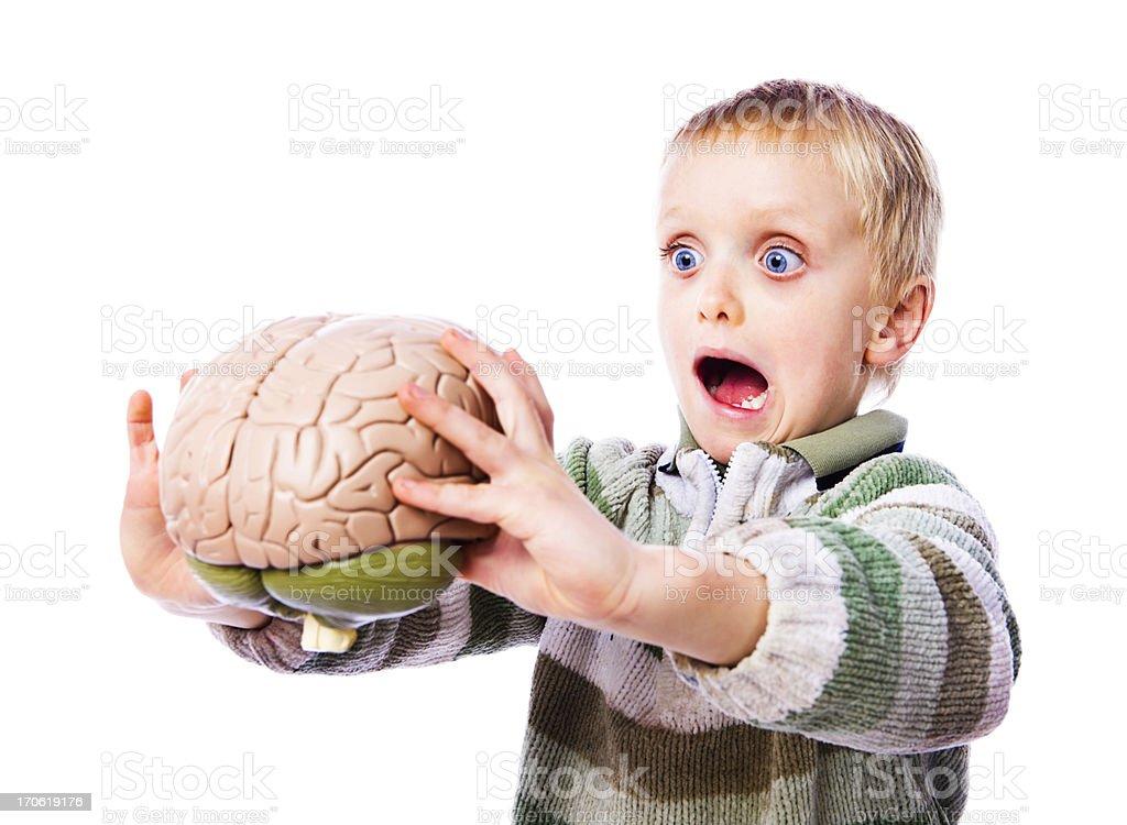 Brain horror stock photo
