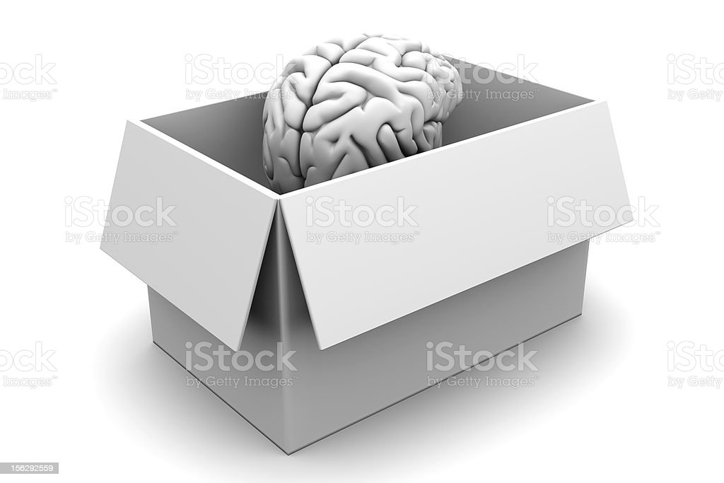 Brain in a Box stock photo