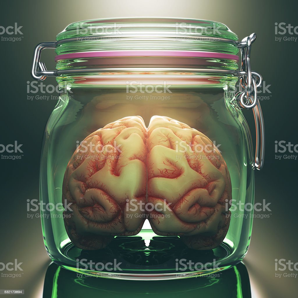 Brain In The Pot stock photo