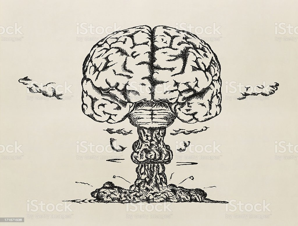 'Brain launch'. Sketch. stock photo