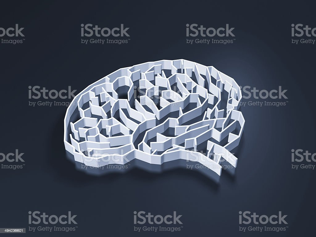 brain maze stock photo