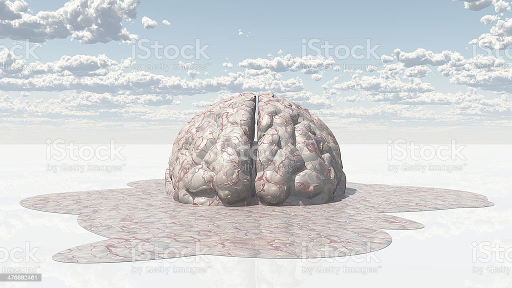 Brain Melt royalty-free stock photo