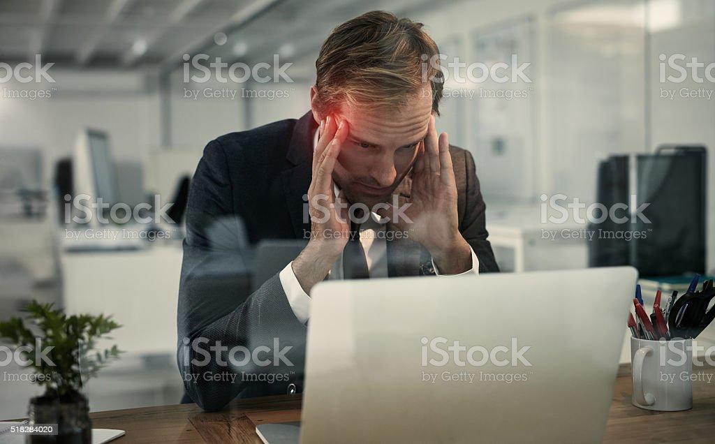 Brain overload stock photo
