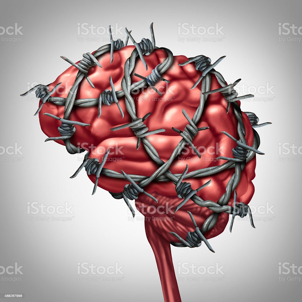Brain Pain stock photo